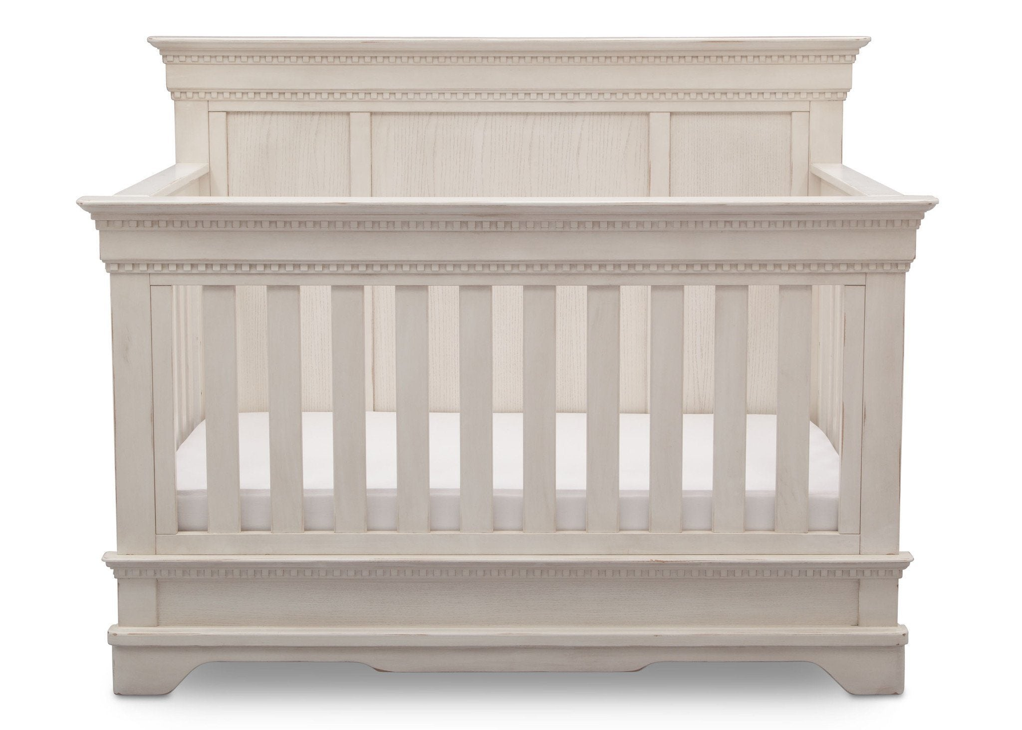 Simmons Kids Antique White (122) Tivoli Crib 'N' More, Front View, b2b