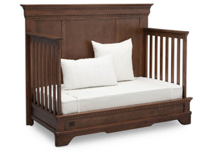 Simmons Kids Antique Chestnut (2100) Tivoli Crib 'N' More, Angled Conversion to DayBed View, a5a