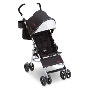 Jeep North Star Stroller by Delta Children, Black with Bright Burgundy (488), with padded seat