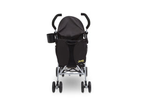 Jeep North Star Stroller by Delta Children, Black with Mellow Yellow (731), with Parent cup holder and easy-grip, extra-long foam handles