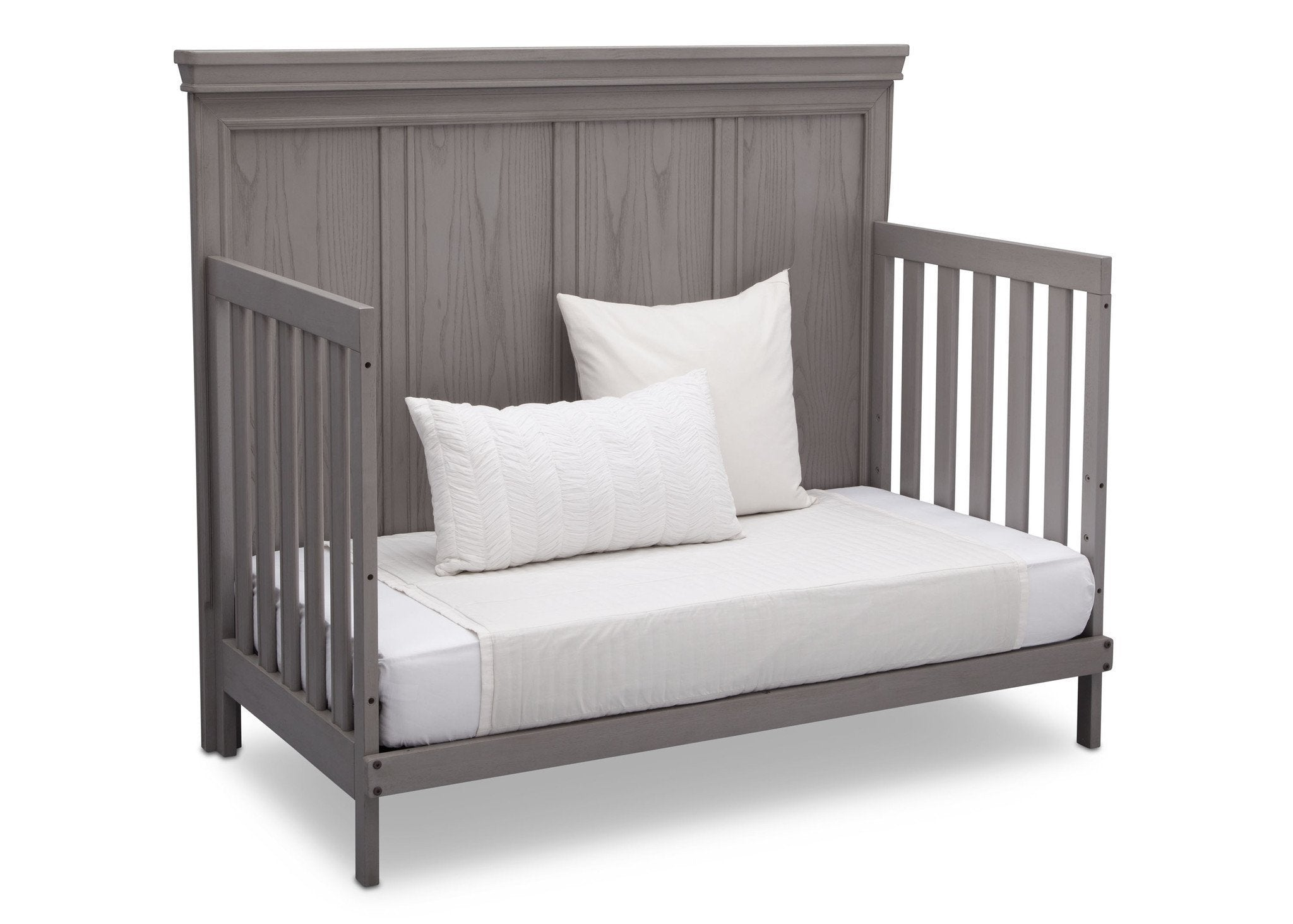 Simmons Kids Storm (161) Ravello Crib 'N' More, Angled Conversion to DayBed View, a5a