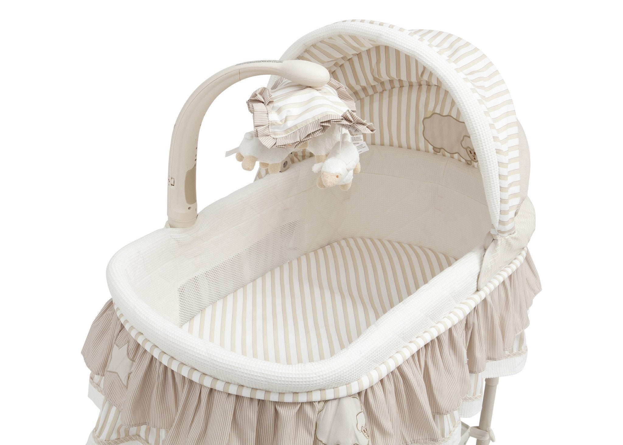 Delta Children Briarwood (272) Rocking Bassinet Detail View b4b