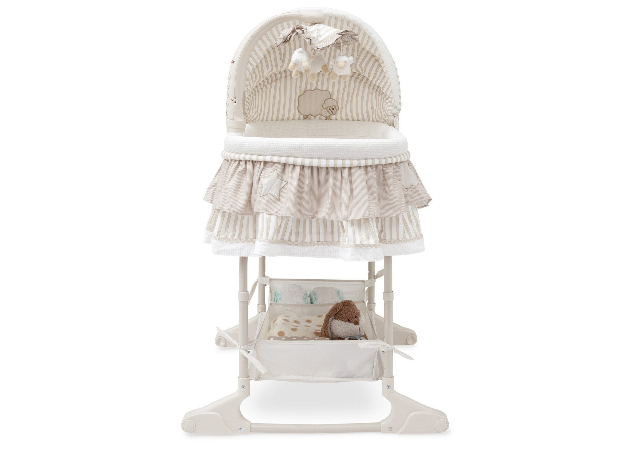 Delta Children Briarwood (272) Rocking Bassinet Front View b2b