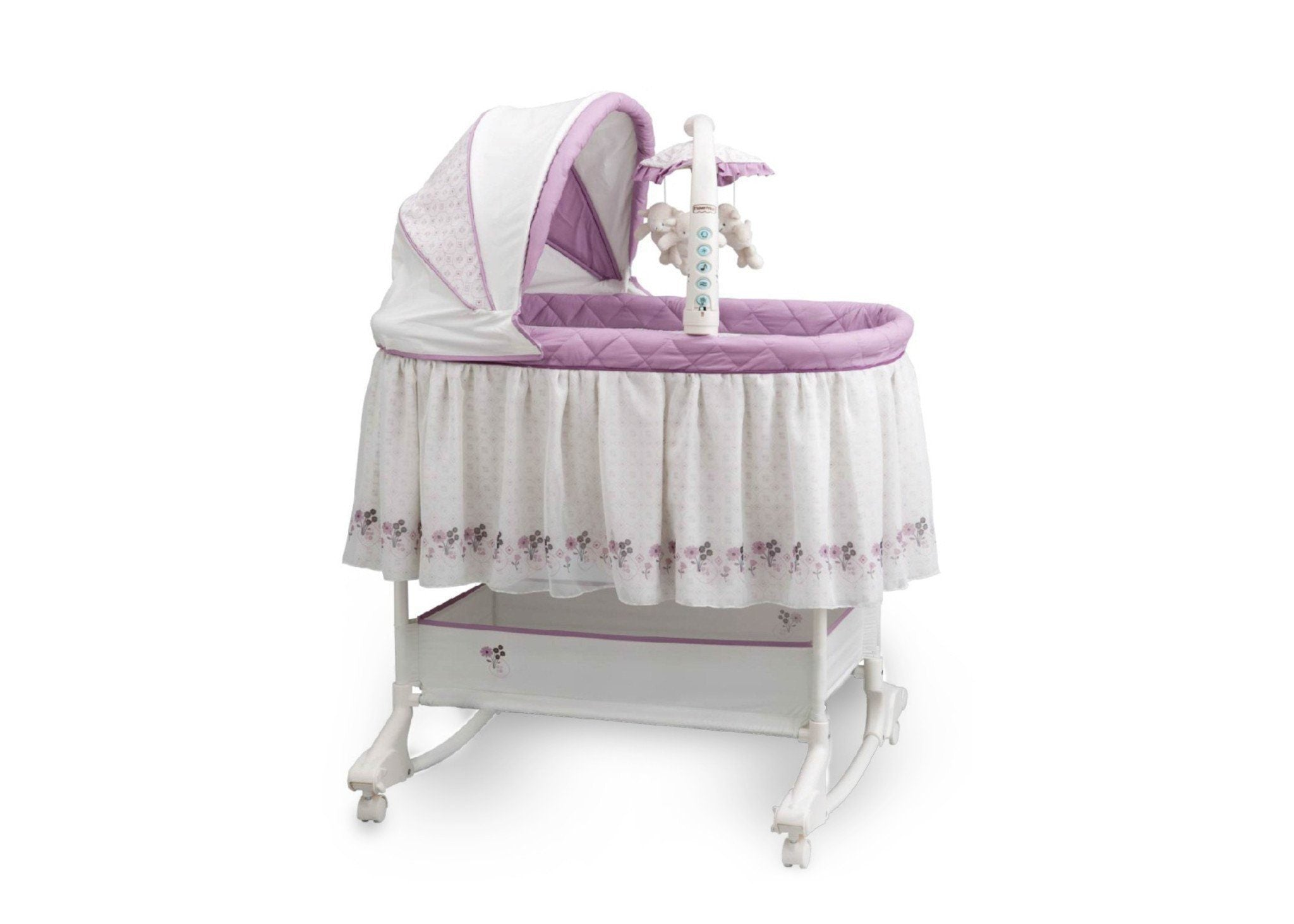 Delta Children Geo (505) Rocking Bassinet Side View c1c
