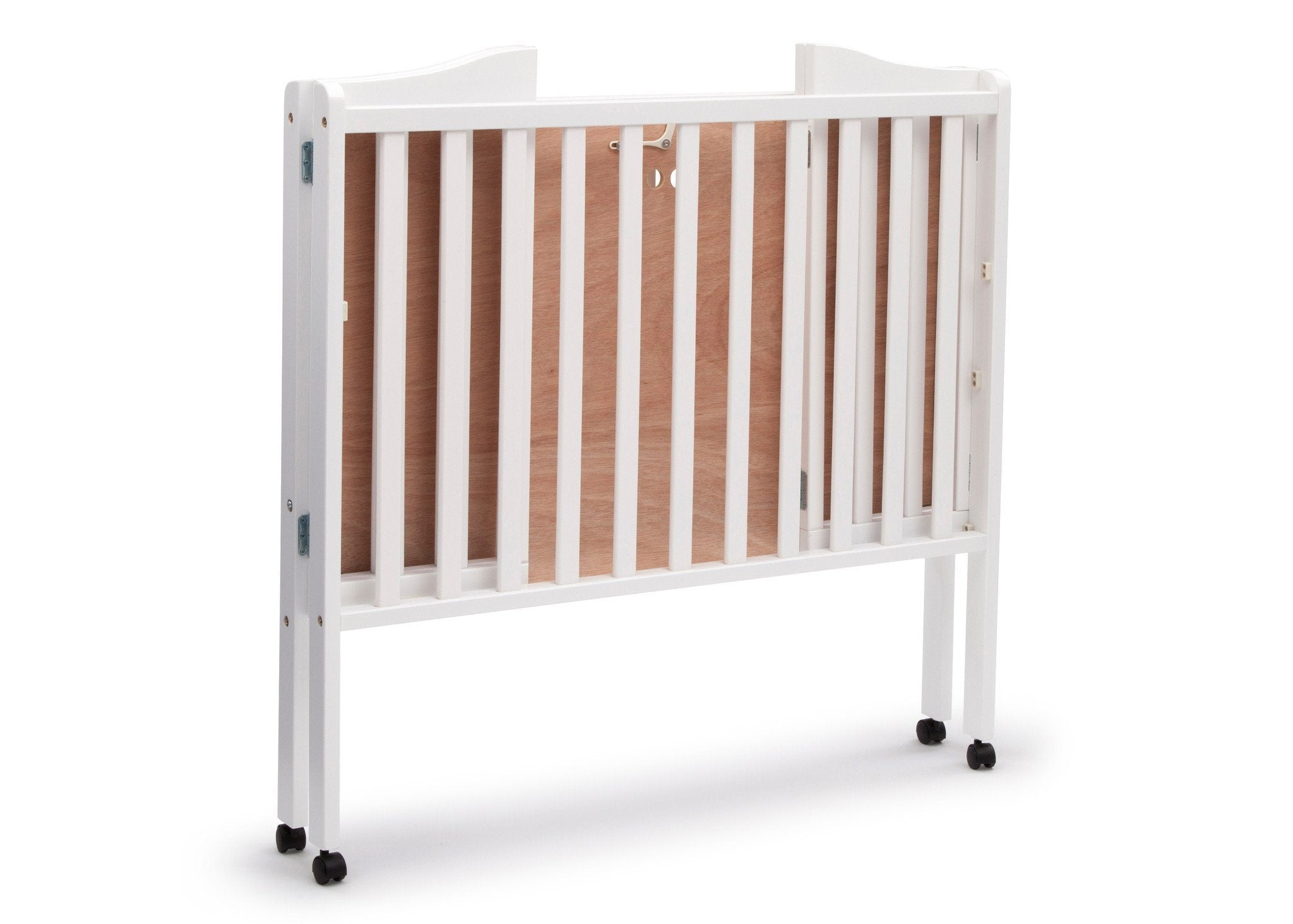 Delta Children White (100) Portable Crib, Folded a4a