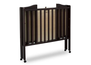 Delta Children Dark Chocolate (207) Portable Crib, Folded e6e