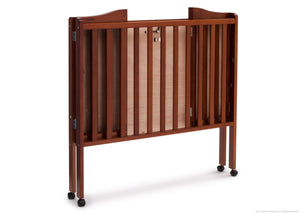 Delta Children Dark Cherry (604) Portable Crib, Folded c4c