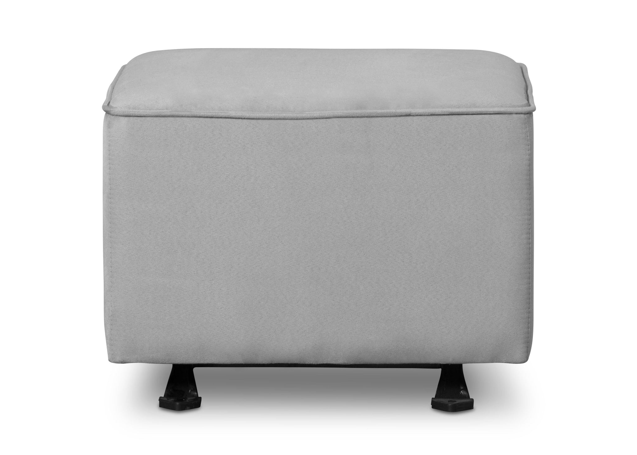 Delta Children Dove Grey (034) Nursery Gliding Ottoman (501220), Front View, a2a