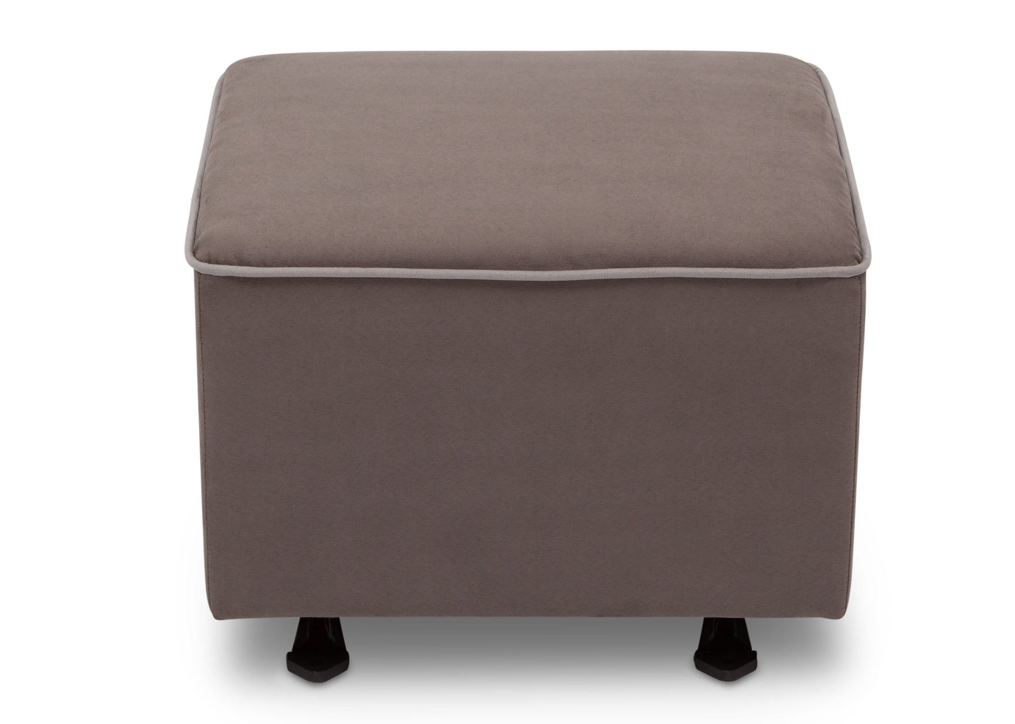 Delta Children Graphite with Dove Grey Welt (944) Nursery Gliding Ottoman (501220), Front View, d2d