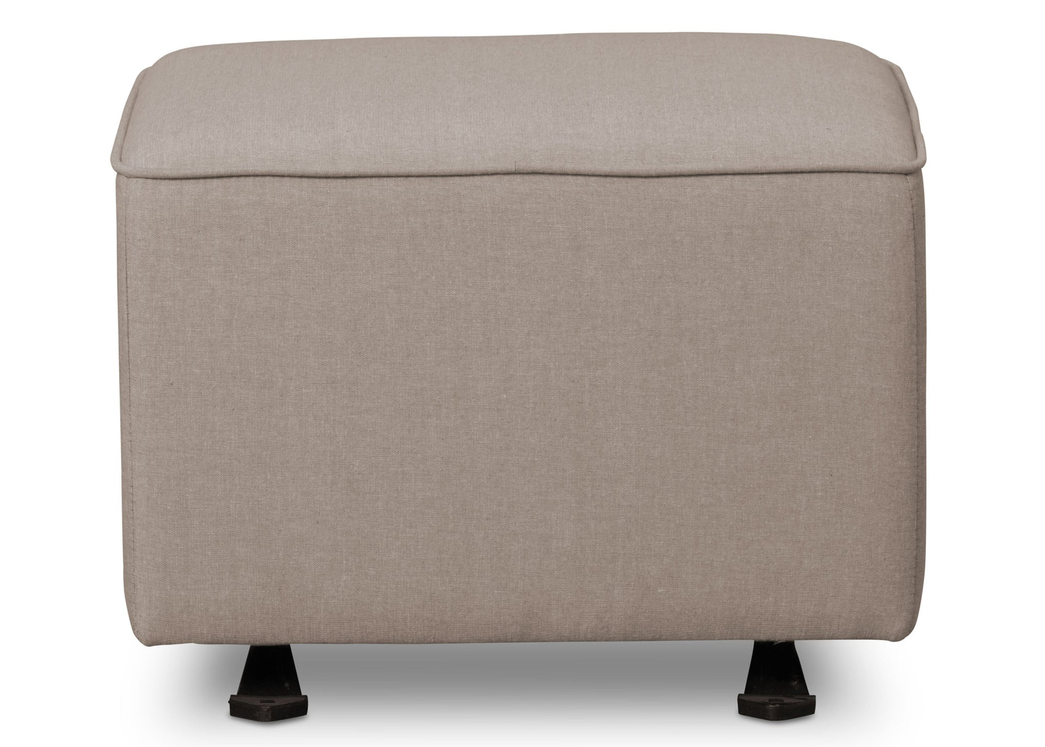 Delta Children Heather Grey (053) Non Tufted Ottoman (501320), Front Silo a2a