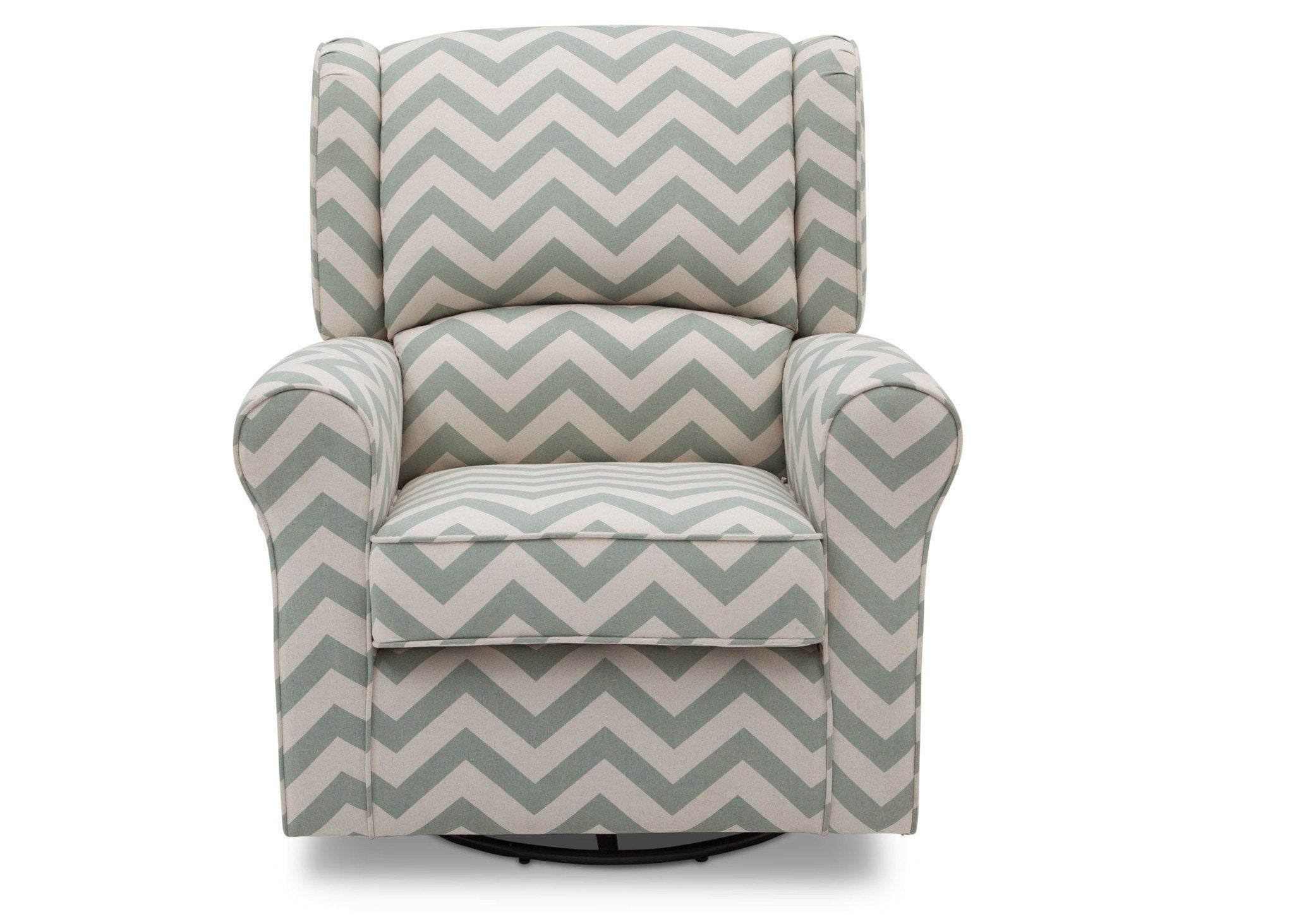Delta Children Morgan Sage Chevron (316) Glider Front View b2b