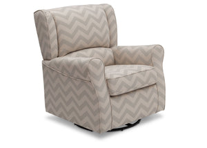 Delta Children Morgan Grey Chevron (900) Glider Side View a1a