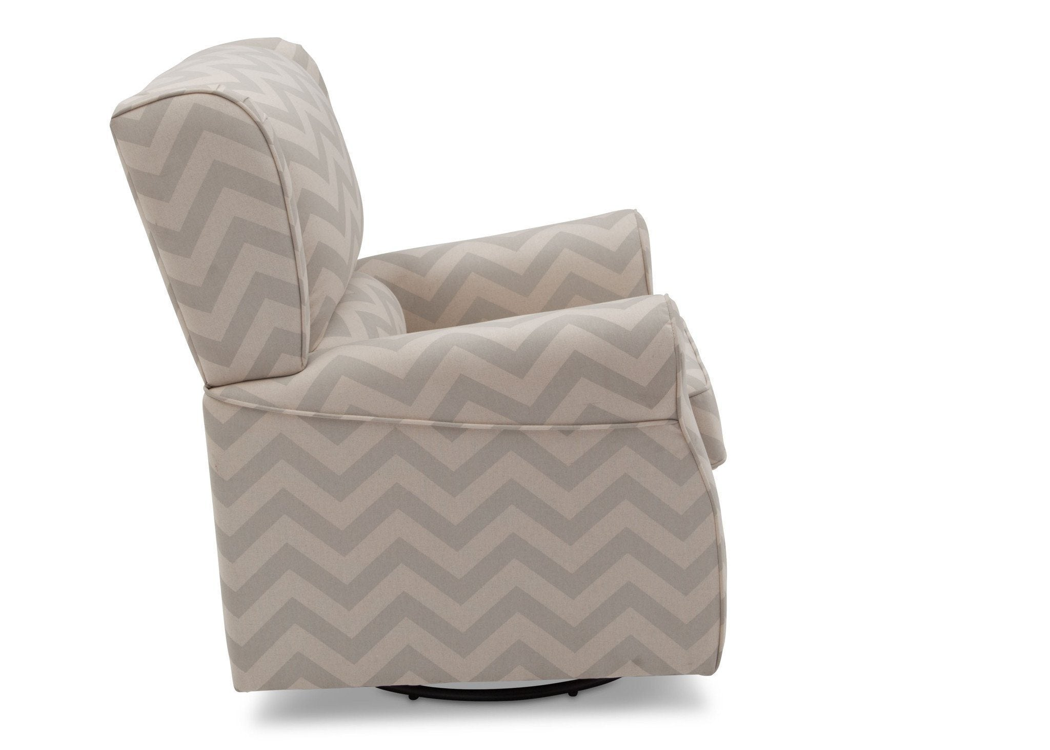Delta Children Morgan Grey Chevron (900) Glider Full Side View a3a