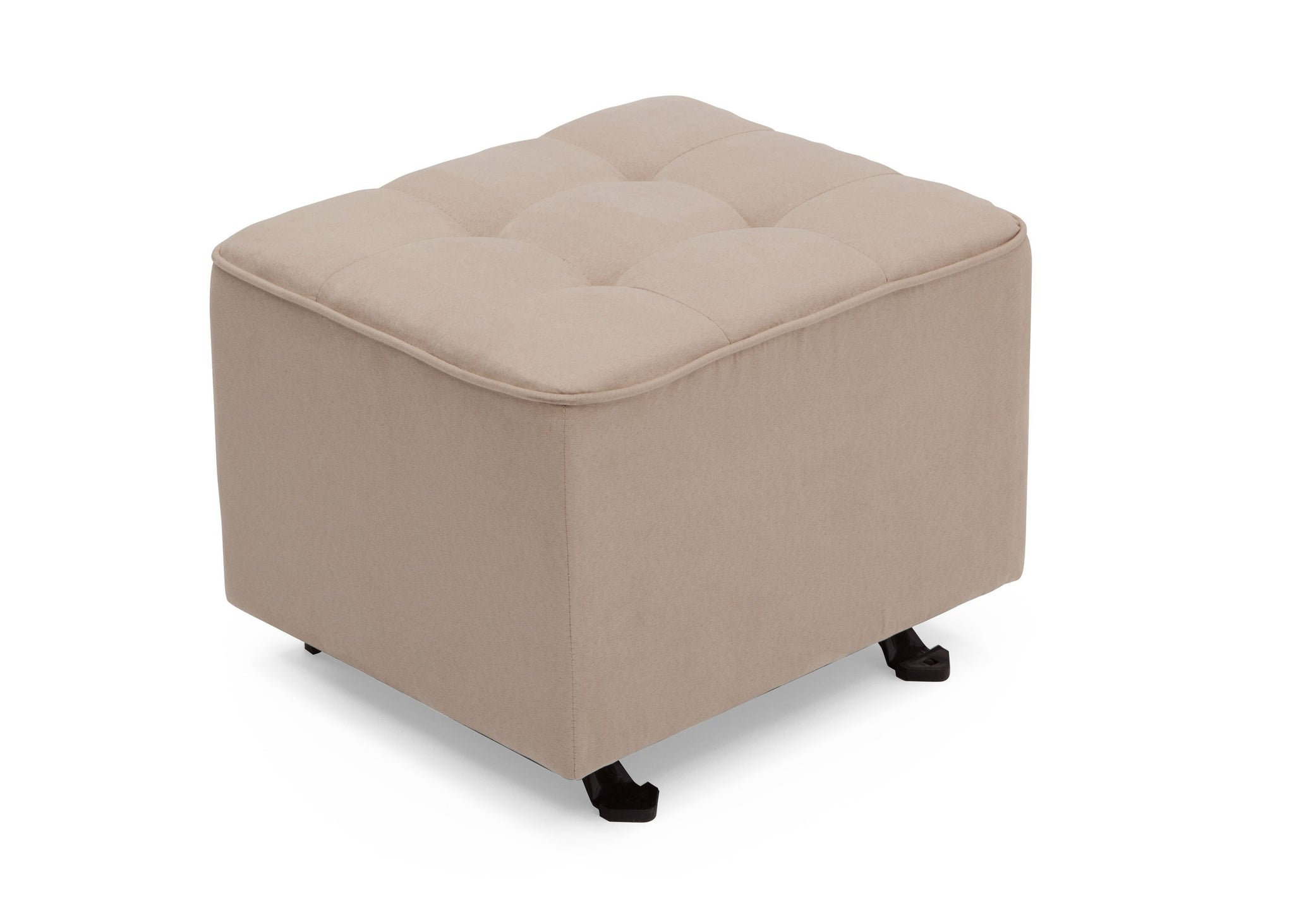 Delta Children Ecru (277) Tufted Nursery Gliding Ottoman, angled view, b3b