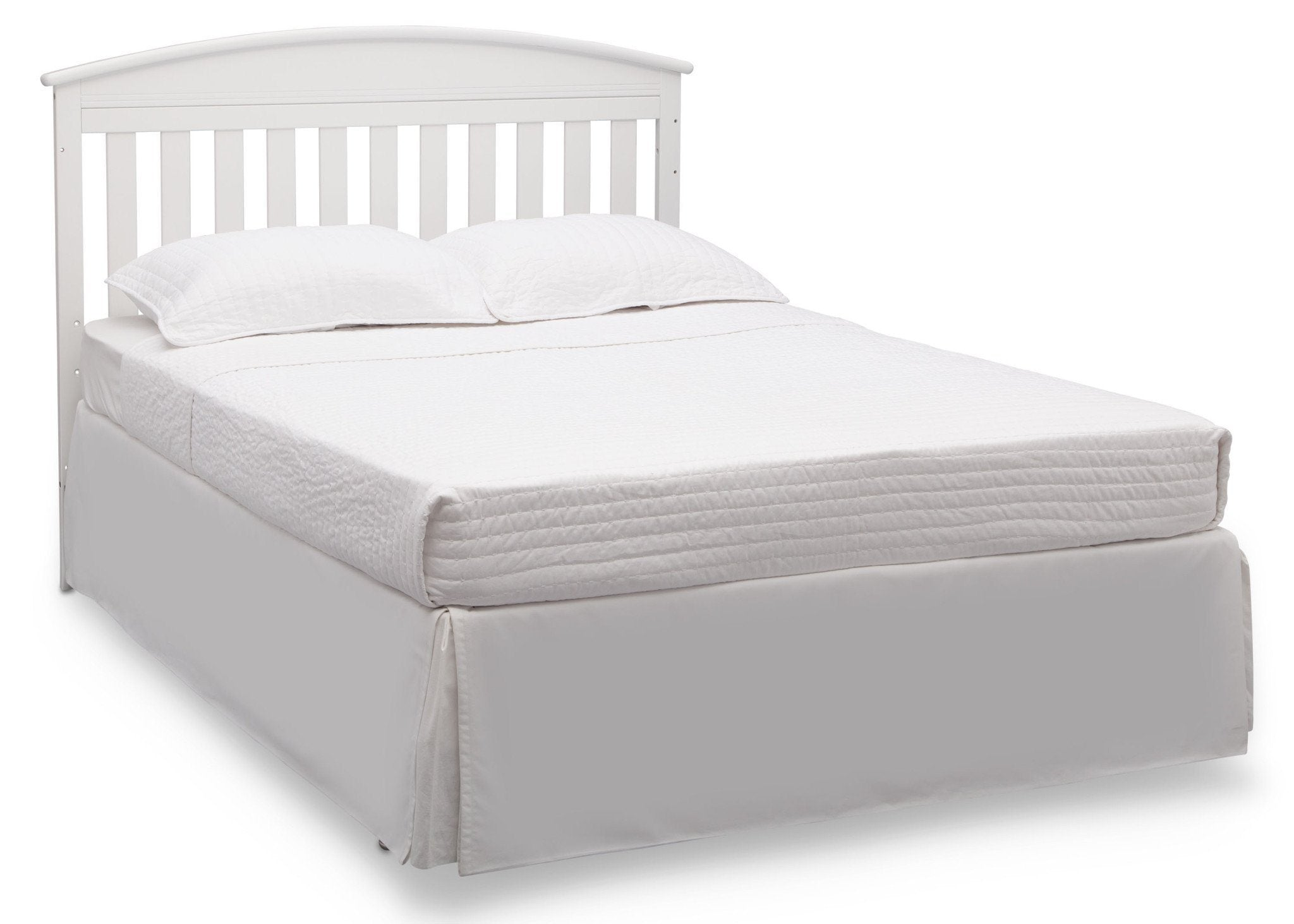 Delta Children Bianca White (130) Abby Crib N Changer, Full Bed b4b