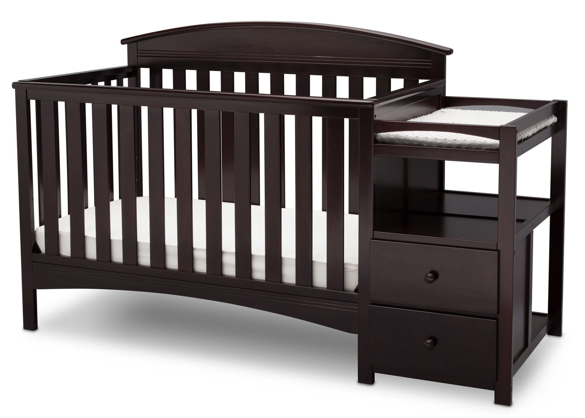 Delta Children Dark Chocolate (207) Abby Crib N Changer c3c
