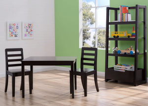 Delta Children Dark Chocolate (207) Gateway Table & 2 Chair Set, Room Shot b1b