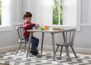 Delta Children Grey (026) Windsor Table & 2 Chair Set, Room View a1a