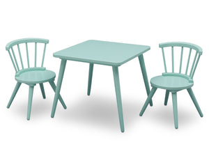 Delta Children Aqua (347) Windsor Table & 2 Chair Set, Right View b2b