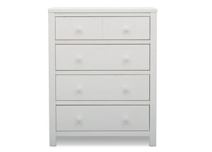Delta Children Rustic Bianca (170) Cambridge 4 Drawer Dresser (535040), Front View, a3a