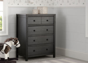 Delta Children Rustic Ebony (935) Cambridge 4 Drawer Dresser (535040), hangtag, b1b