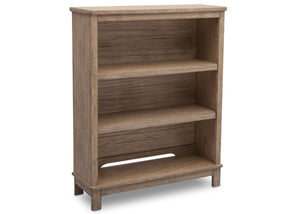 Delta Children Rustic Driftwood (112) Cambridge Bookcase/Hutch, angled view, b2b