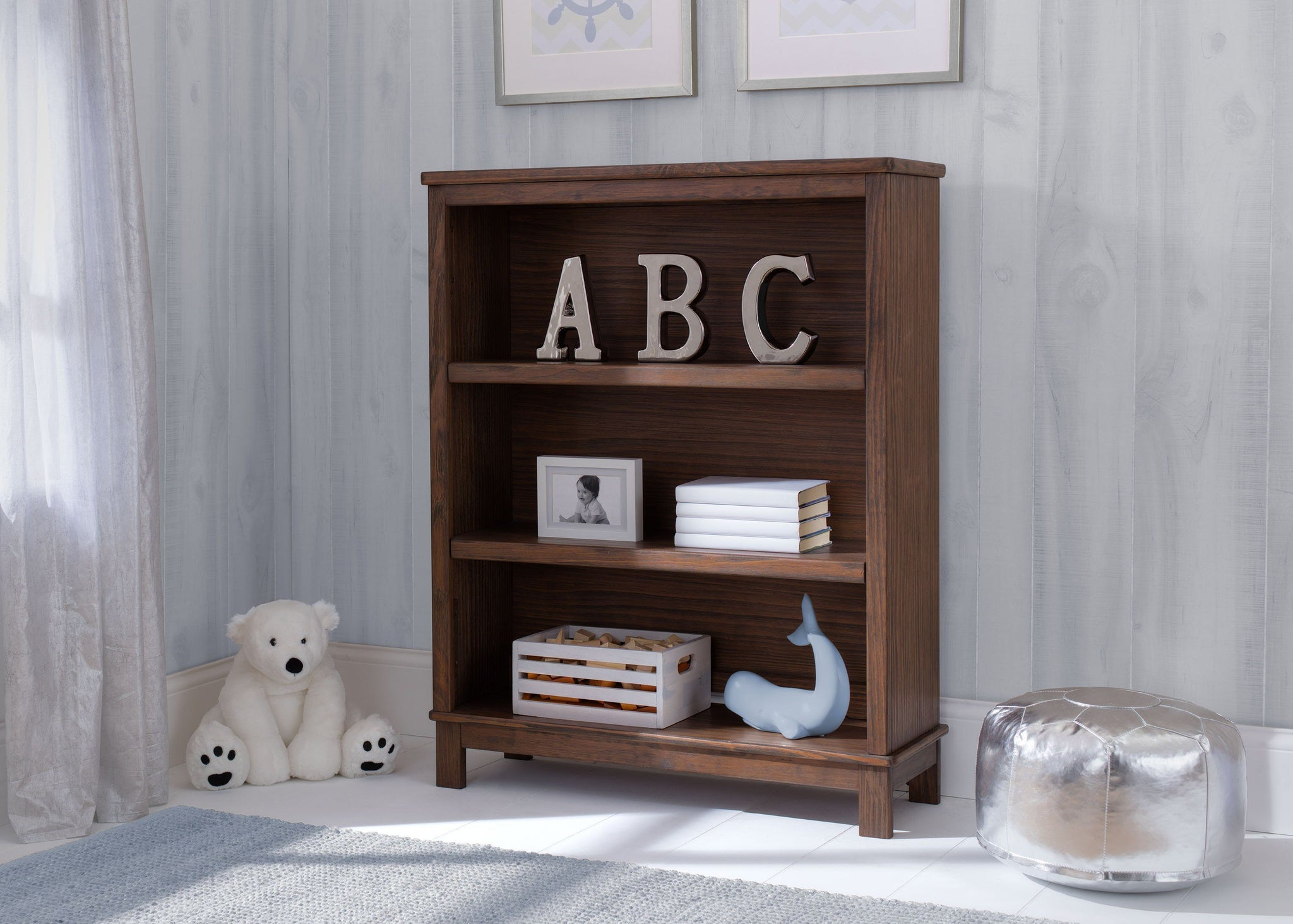Delta Children Rustic Oak (229) Cambridge Bookcase/Hutch, hangtag c1c