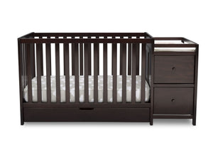 Delta Children Dark Chocolate (207) Luna Convertible Crib N with Under Drawer (536160), Silo Crib, c2c