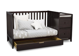 Delta Children Dark Chocolate (207) Luna Convertible Crib N with Under Drawer (536160), Silo Daybed, c4c