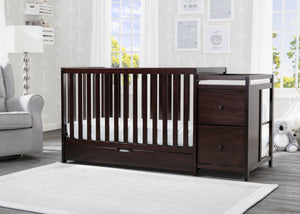 Luna Convertible Crib N Changer with Under Drawer Dark Chocolate (207)