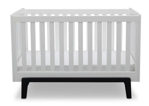 Delta Children Bianca White with Ebony (149) Aster 3-in-1 Crib, Straight Crib View a3a