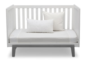 Delta Children Bianca White with Grey (166) Aster 3-in-1 Crib, Daybed Conversion
