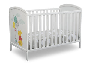 Delta Children Bianca White with Pooh (1301) Disney Winnie The Pooh 3-in-1 Convertible Baby Crib by Delta Children, Right Crib View a3a