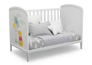 Delta Children Bianca White with Pooh (1301) Disney Winnie The Pooh 3-in-1 Convertible Baby Crib by Delta Children, Daybed View a5a