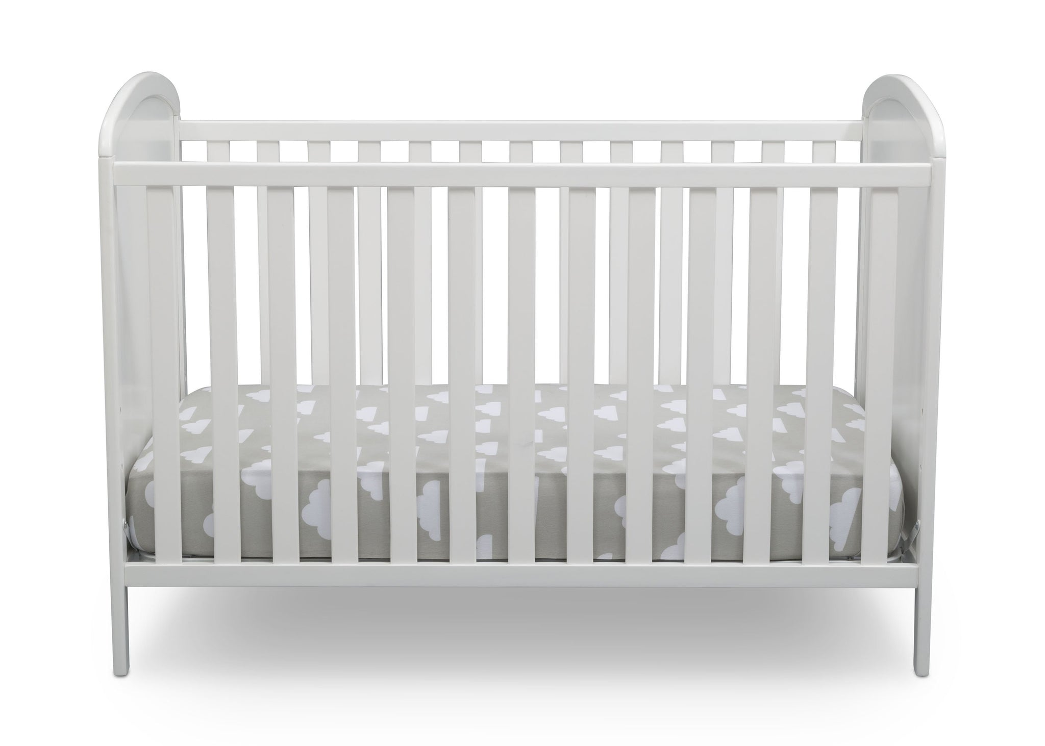 Delta Children Bianca White with Pooh (1301) Disney Winnie The Pooh 3-in-1 Convertible Baby Crib by Delta Children, Front Crib View a2a