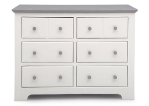 Delta Children Bianca with Rustic Haze (136) Providence 6 Drawer Dresser, Front View b2b