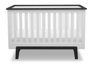 Delta Children Bianca with Rustic Ebony (135) Providence Classic 4-in-1 Convertible Crib (548650), Straight, a2a