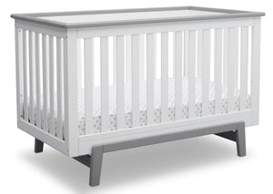 Delta Children Bianca with Rustic Haze (136) Providence Classic 4-in-1 Convertible Crib (548650), Right Angle, b3b