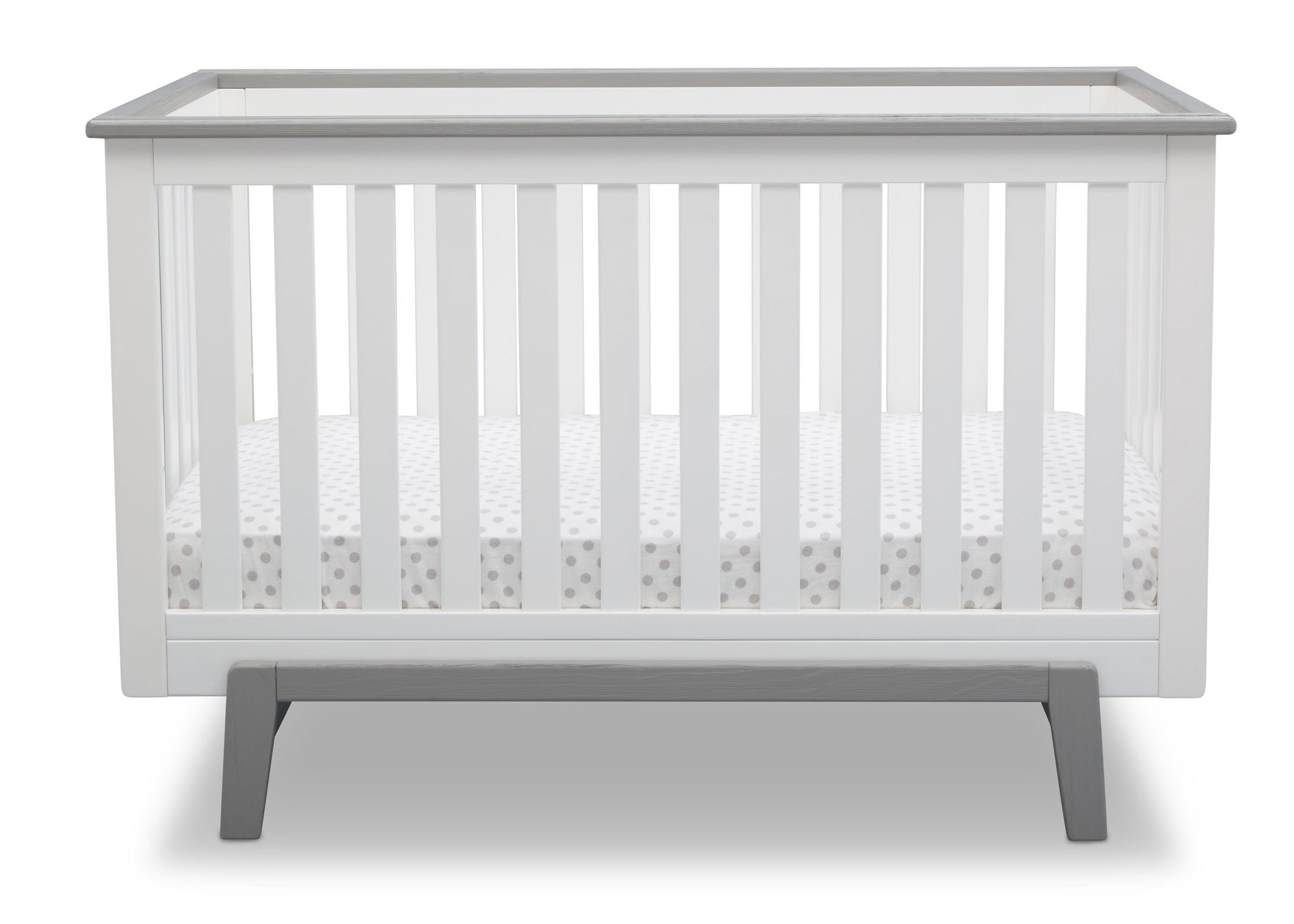 Delta Children Bianca with Rustic Haze (136) Providence Classic 4-in-1 Convertible Crib (548650), Straight, b2b