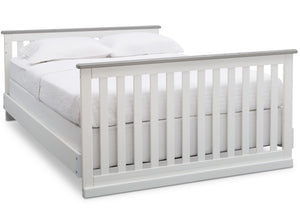 Delta Children Bianca with Rustic Haze (136) Providence Classic 4-in-1 Convertible Crib (548650), Full Size Bed, b6b