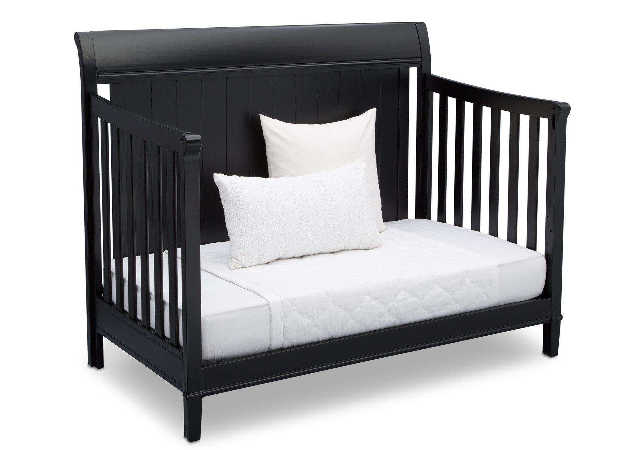 Delta Children Ebony (0011) New Haven 4-in-1 Crib, Angled Conversion to Daybed, a5a