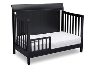 Delta Children Ebony (0011) New Haven 4-in-1 Crib, Angled Conversion to Toddler bed, a4a