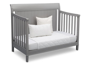 Delta Children Grey (026) New Haven 4-in-1 Crib, Angled Conversion to Daybed, b5b