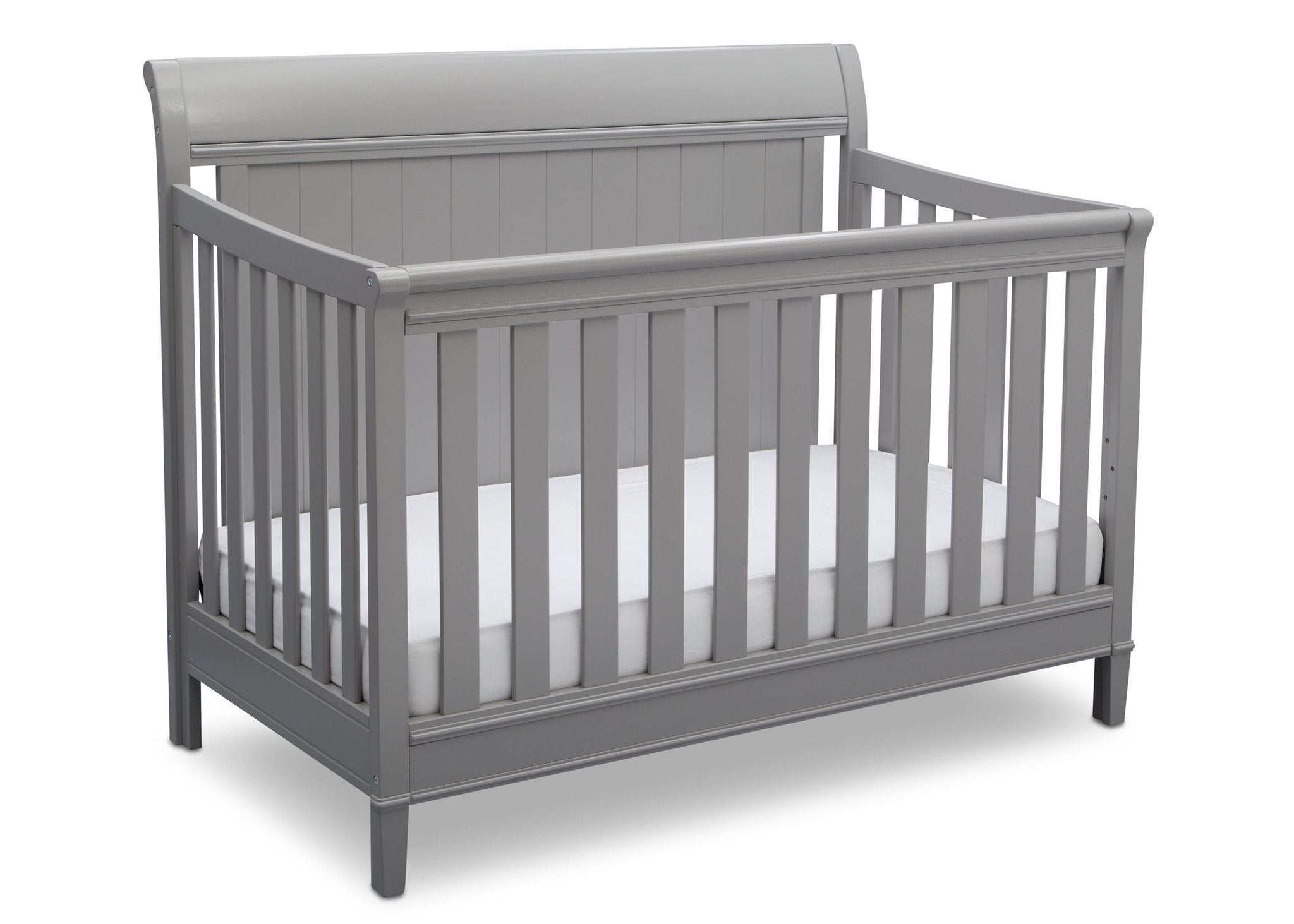 Delta Children Grey (026) New Haven 4-in-1 Crib, Angled View, b3b