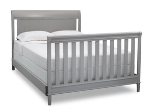 Delta Children Grey (026) New Haven 4-in-1 Crib, Angled Conversion to Full Size Bed, b6b