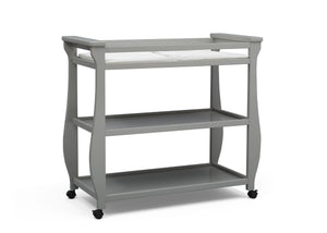 Delta Children Grey (026) Lancaster Changing Table (552010), Sideview, a2a