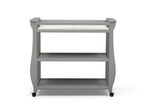 Delta Children Grey (026) Lancaster Changing Table (552010), Front View, a3a