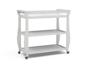 Delta Children Bianca White (130) Lancaster Changing Table (552010), Sideview, b2b