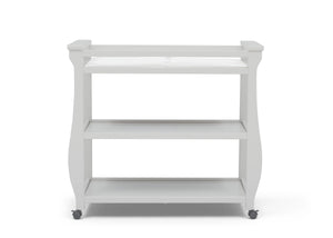 Delta Children Bianca White (130) Lancaster Changing Table (552010), Front View, b3b