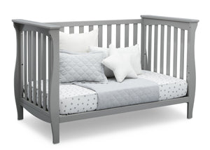 Delta Children Grey (026) Lancaster 3-in-1 Convertible Crib (552330), Daybed, a4a